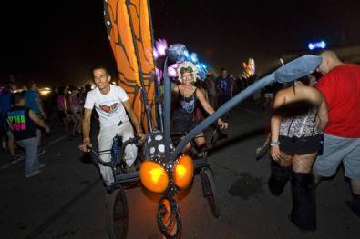Monarch butterfly bicycle. Electric Daisy Carnival at Las Vegas, 2011