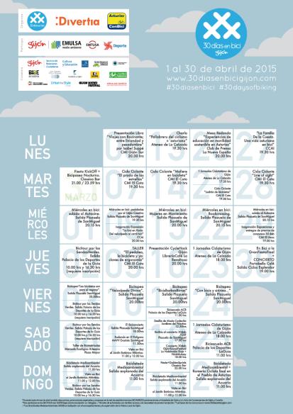 Programa 30 Días en Bici Gijón 2015